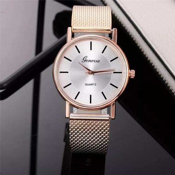 Relógio Feminino De Cor Gold Relógio Para Mulher Analógico