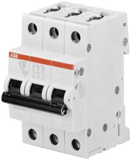 Abb 2cds253001r0634 Mini Interruptor 3p S203-c63 Amps