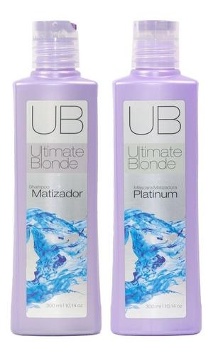 Kit Ultimate Blonde Shampoo Matizador E Máscara 300 Ml