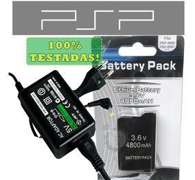Fonte Carregador Bivolt 110/220+ Bateria Psp Slim 2000 3000