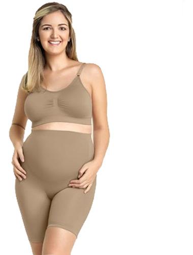 Bermuda Gestante Grávida Maternidade Cós Alto Cintura Short