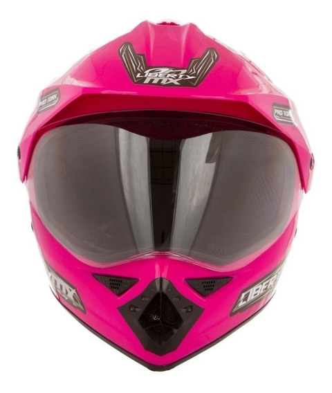 Capacete para moto Pro Tork Liberty MX Pro Vision rosaL