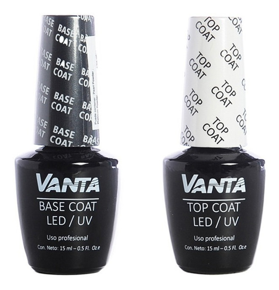 Vanta Kit Base Coat + Top Coat Esmaltes Semipermanentes Uñas
