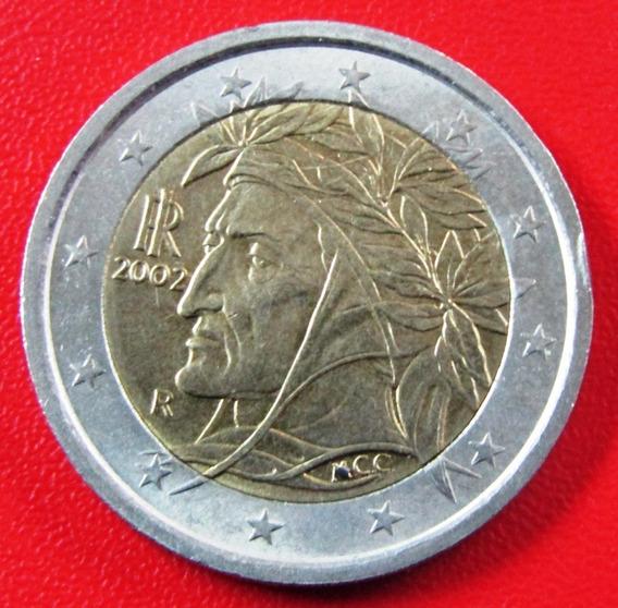 Italia Moneda Bimetalica 2 Euros 2002 Unc Km #217