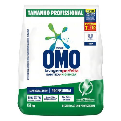 Sabão em pó Omo Lavagem Perfeita Sanitiza & Higieniza Pro pacote 5.6kg