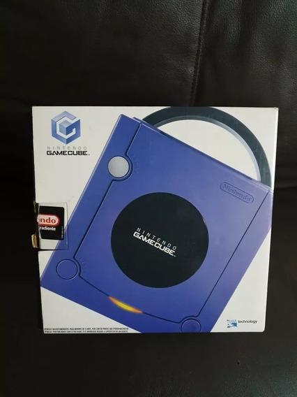 Nintendo Gamecube Índigo Usa Na Caixa Em Ótimo Estado