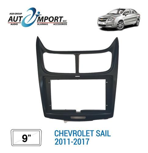 Adaptador De Radio 9 Pulgadas Chevrolet Sail 2011-2017