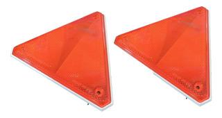 Triangulo Baliza Reflectivo Luminoso( Par) Color Rojo