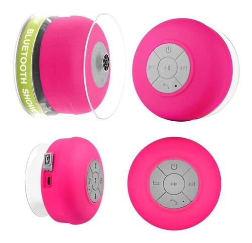 Imagem 1 de 4 de Mini-caixa De Som Resistente A Agua - Bts-06 - Cor Rosa