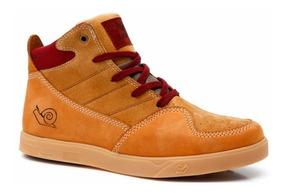 Tênis Land Feet Camel Cano Alto - Tipo Supra - Bota Skate