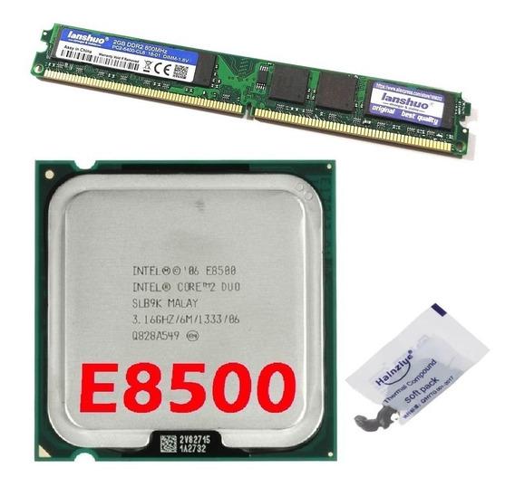 Kit Memória Ddr2 800mhz 2 Gb + Cpu Core 2 Duo E8500 3,16 Ghz
