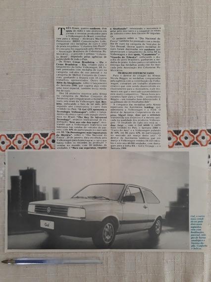Recorte Jornal Matéria Reportagem Vw Gol Quadrado 1989 Anúnc