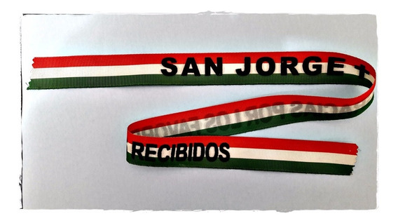 Vincha Tela 65 Cm - San Jorge Gracias Por Favores Recibidos