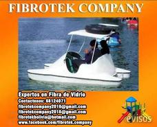 Botes A Pedal Canoas Fabricados En Fibra De Vidrio