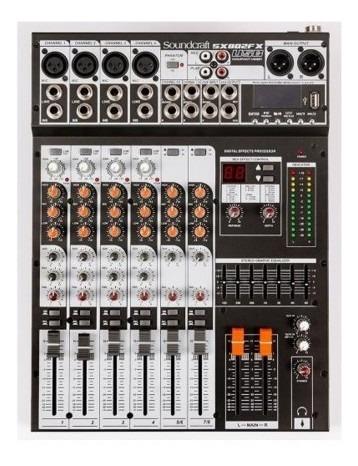 Mesa De Som Soundcraft Sx 802 Fx Usb 8 Canais Efeitos Bivolt