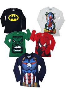 Kit Com 5 Camisa Infantil Masculina Estampada Promoção