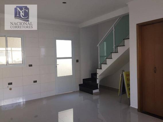 Sobrado Com 3 Dormitórios À Venda, 66 M² Por R$ 340.000,00 - Jardim Utinga - Santo André/sp - So3036
