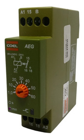 Rele Temporizador Coel Aeg 60min Retardo Pulso 94-242v E 24v