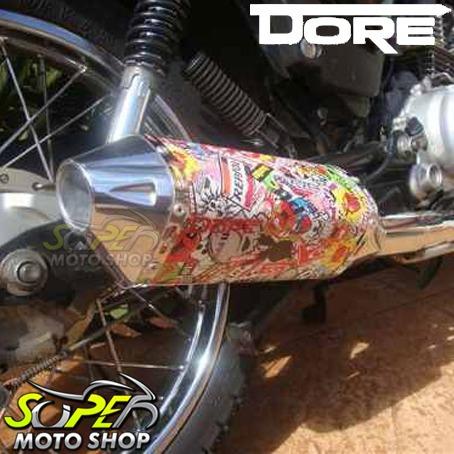 Escape Ponteira Dore Curva Inox Twister Cbx 250 /08 Personal