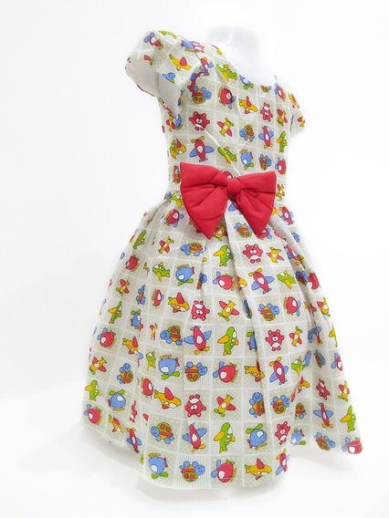 Vestido Infantil Festa Aniversário Casamento Várias Estampas
