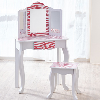 Teamson Kids - Fashion Prints Girls Set De Mesa Y Taburet