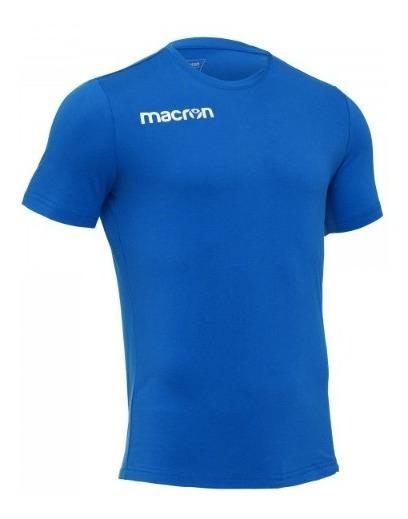 Remera De Algodon- Modelo Boost- Azurro- Marca Macron