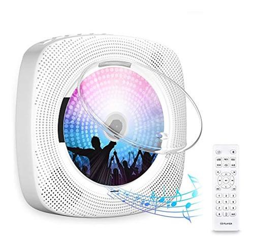 Imagen 1 de 7 de Discmans Con Bluetooth Portátil Y Radio Fm, Color Blanco