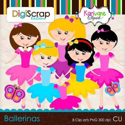 Kit Imprimible Bailarinas Imagenes Clipart Cod 27