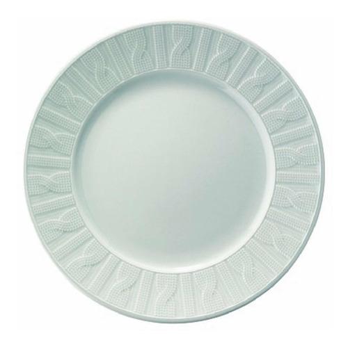 Plato Postre 20 Cms Ceramica Beige Ivory  Kuthaya Turquia