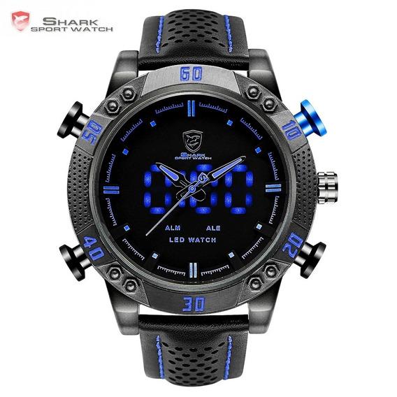 Relógio Shark Original Azul