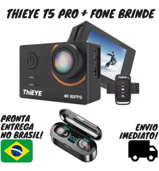 Camera De Ação Thieye T5 Pro 4k + Fone De Ouvido F9 Brinde!!