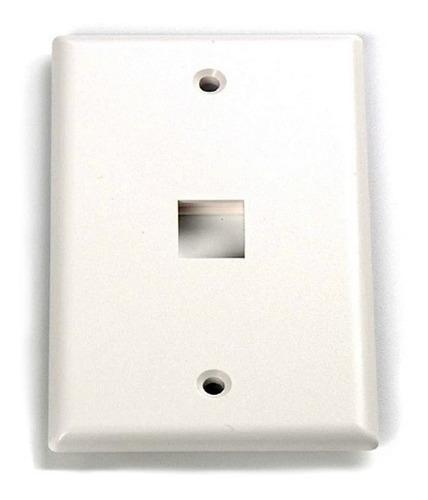 Imagen 1 de 3 de Face Plate Blanco 1 Puertos Faceplate Coupler Rj45