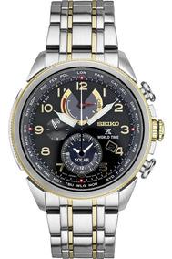 Relógio Seiko Prospex Solar World Time Chronograph Ssc508