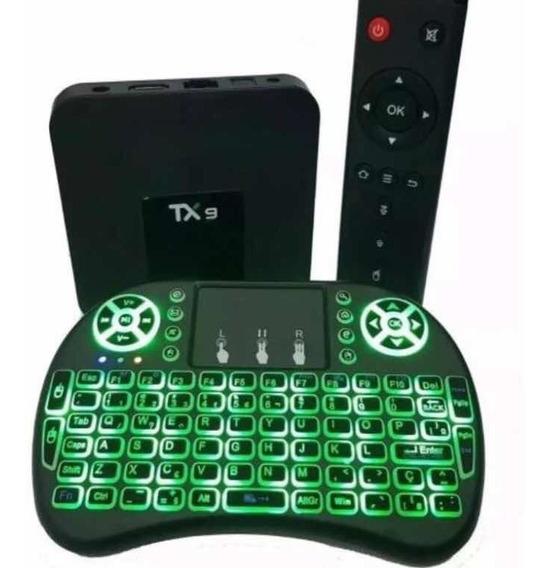 Conversor Smart Tv Tx9 4gb Ram Ddr-3 32gb Rom + Teclado