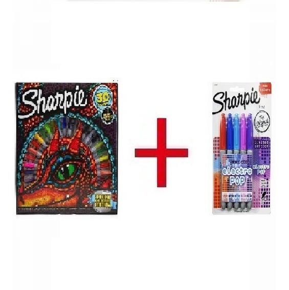 Marcador Sharpie Ruleta / Rueda X30 + Marcador Electropop X5