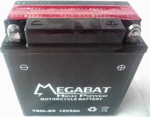 Imagen 1 de 1 de Batería Megabat Yb5l Bs 12v 5ah  Motos