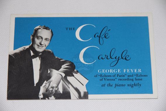 Autógrafo Firma Músico Húngaro Pianista George Feyer