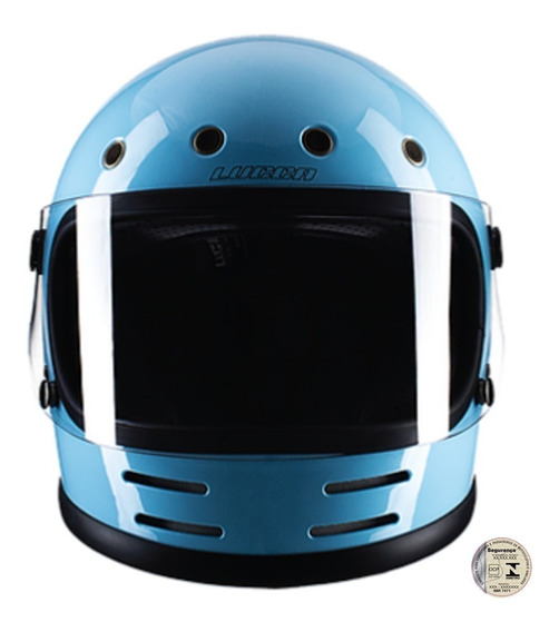 Capacete Lucca Magno V2 Glossy Blue - Old School Inmetro