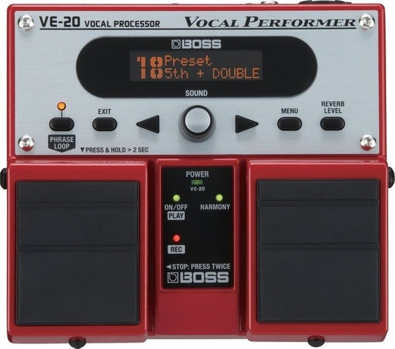 Pedal Boss Ve-20 Processador Vocal Ve 20 Nf-e Garantia 1 Ano