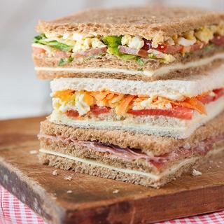 24 Sandwich Triples Vegetarianos+40 Triples Especiales 12x6