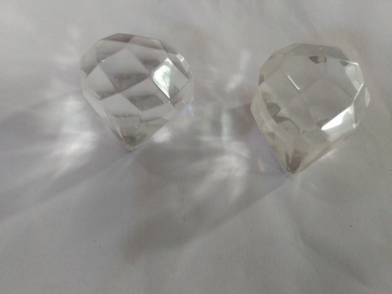 Ovos Facetados De Cristal Natural Kit 02 Peças