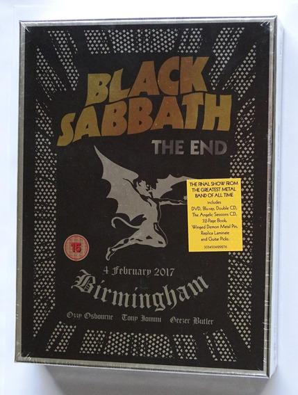 Box Black Sabbath - The End 2017 Deluxe Cd Dvd Blu Ray Novo