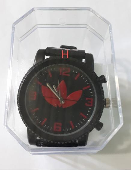 01 Relógio Masculino Preto Com Vermelho.
