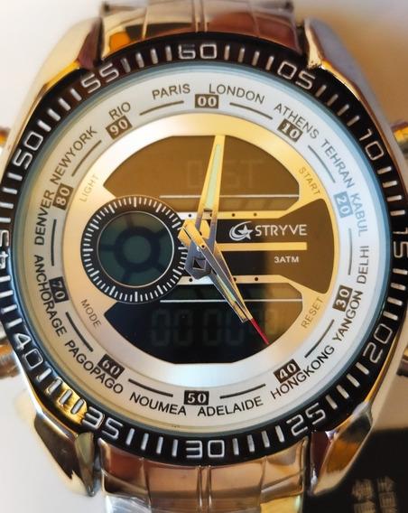 Relógio Masculino Stryve S8016 Digital E Analógico