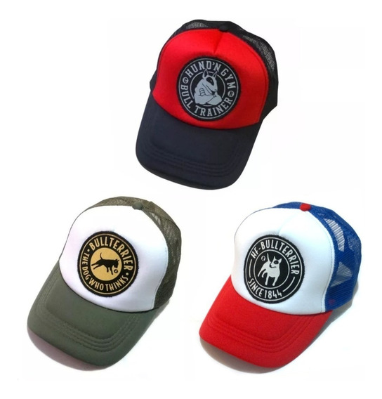 Gorras Trucker Hf ® Bull Terrier - Pack X 3 - A Elección