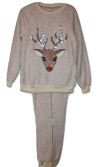 Pijama Polar De Renos Talla Extra Importada Secret Treasures
