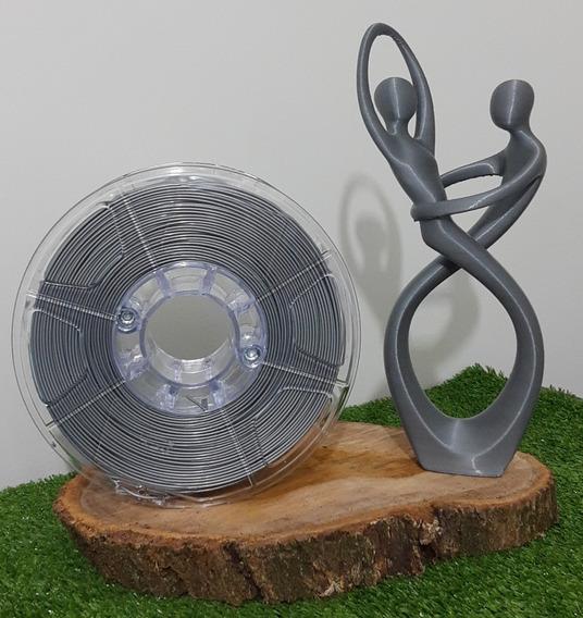 Filamento Pla 1,75mm Prata - Alto Teor De Pureza 1kg