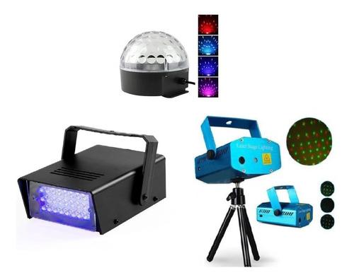 Combo Para Discoteca Laser Flash Efectos Rgb- Super Pack