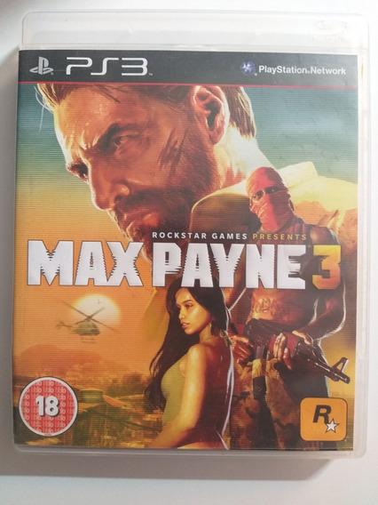 Jogo Max Payne 3 Ps3 Playstation - Midia Física - Original