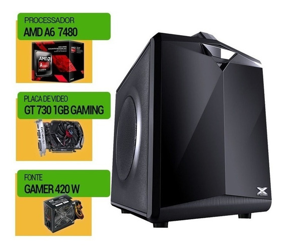 Pc Mobo Amd A6 7480 + Ssd120 Gb + 8gb Ddr3+vga 730 Gaming